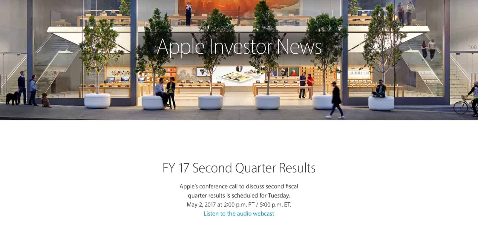 Apple presenterar kvartalsrapport den 2 maj