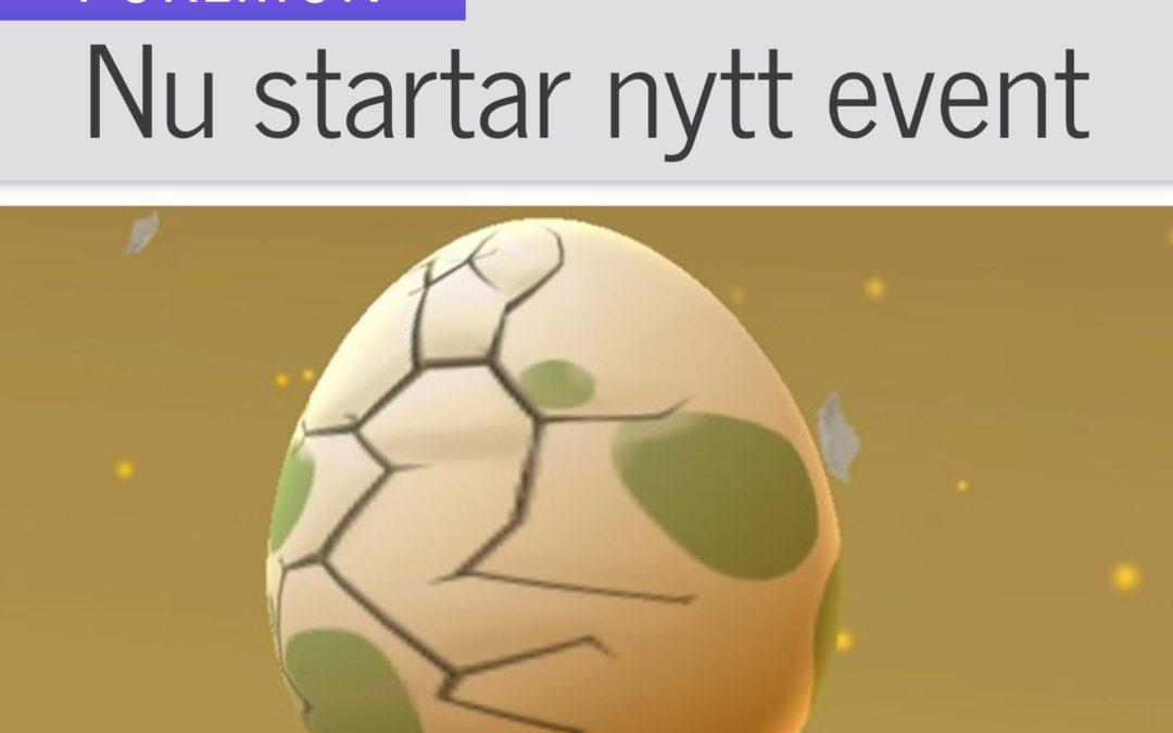 Nu startar ett nytt event i Pokémon GO