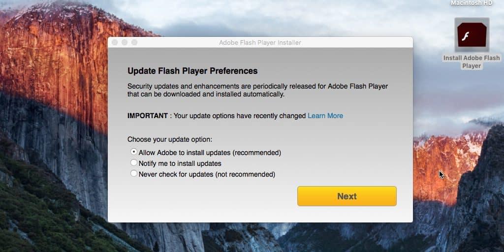 Malware följer sig som uppdatering av Flash Player