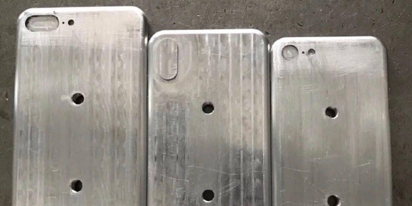 Bilder på formar för nya iPhone
