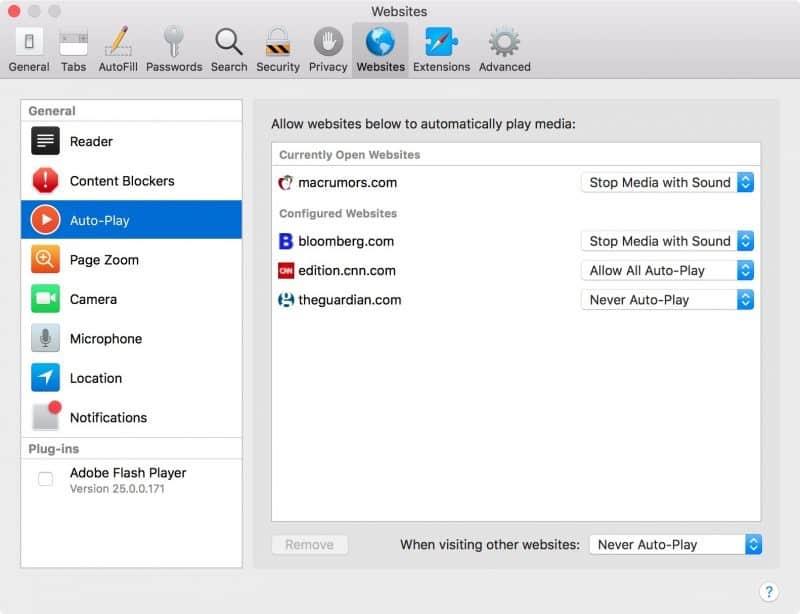 Så här fungerar Apples stopp för video i High Sierra
