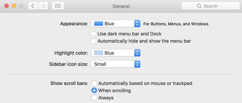 Så fixar du så att scroll-listerna syns hela tiden i macOS