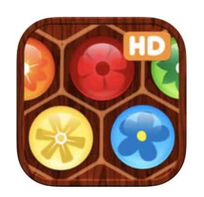 Ett pussel-spel med blommor