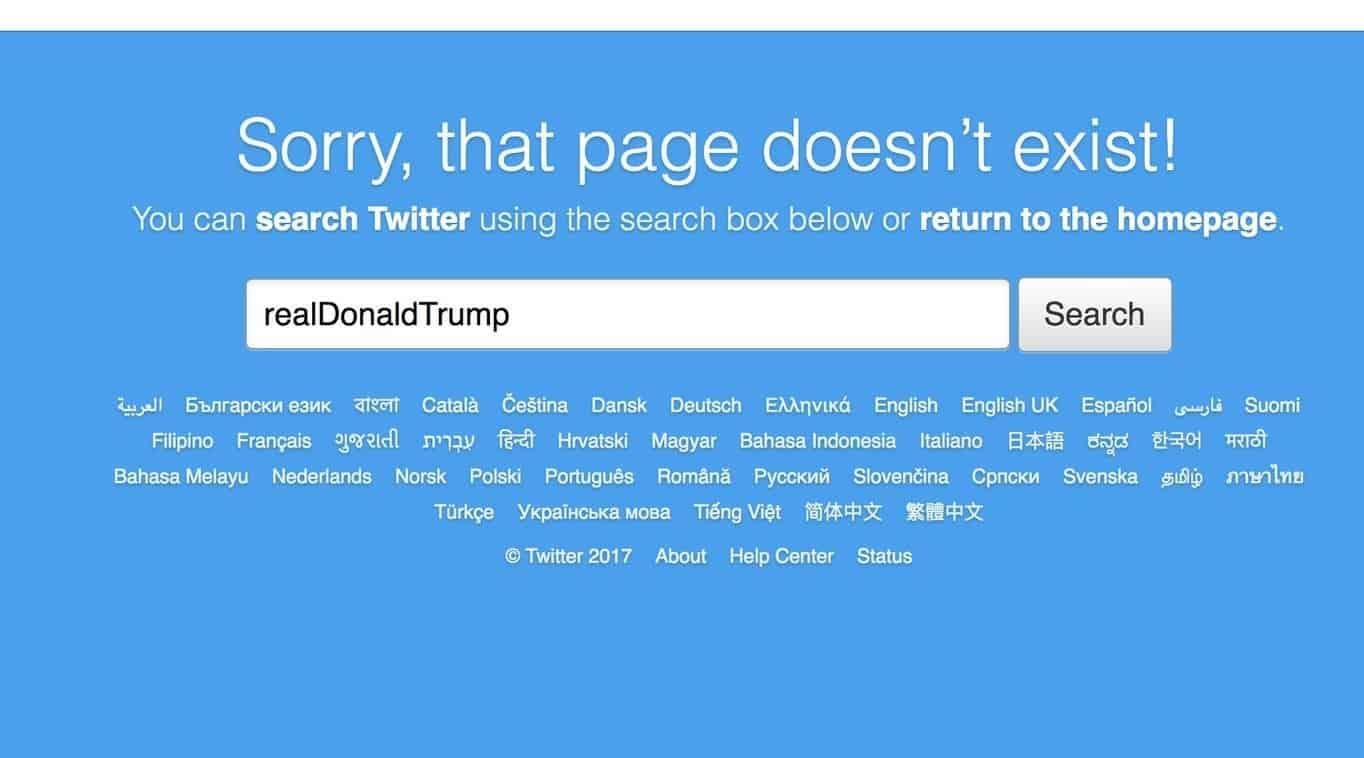 Sista dagen på Twitter, stängde Trumps konto