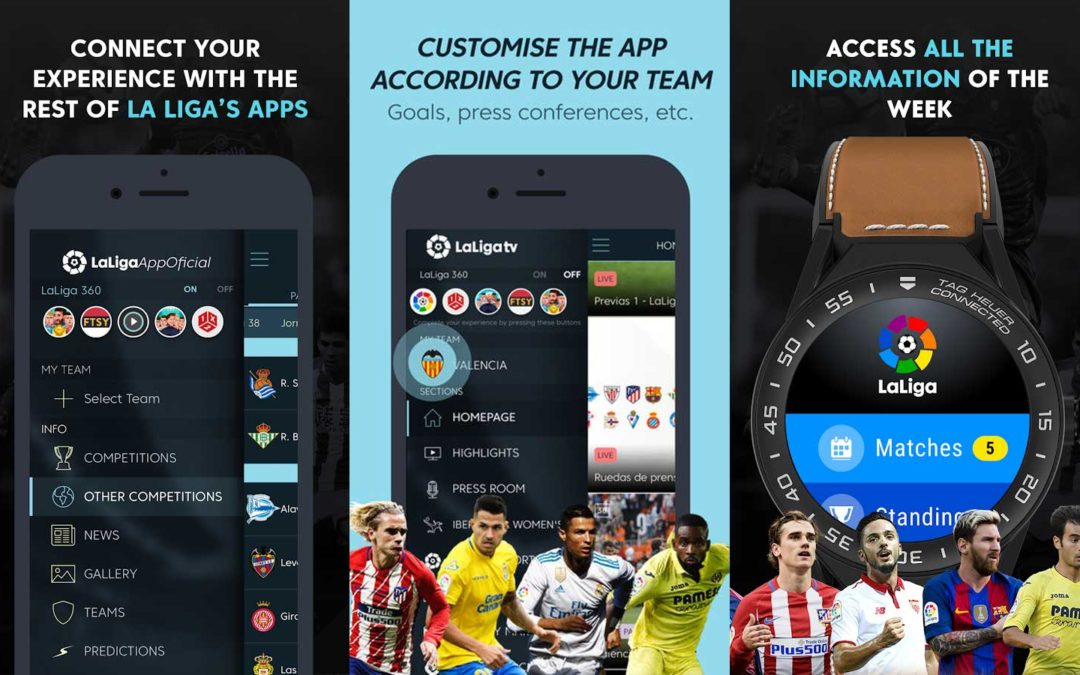 Den officiella appen för La Liga snokar på användarna