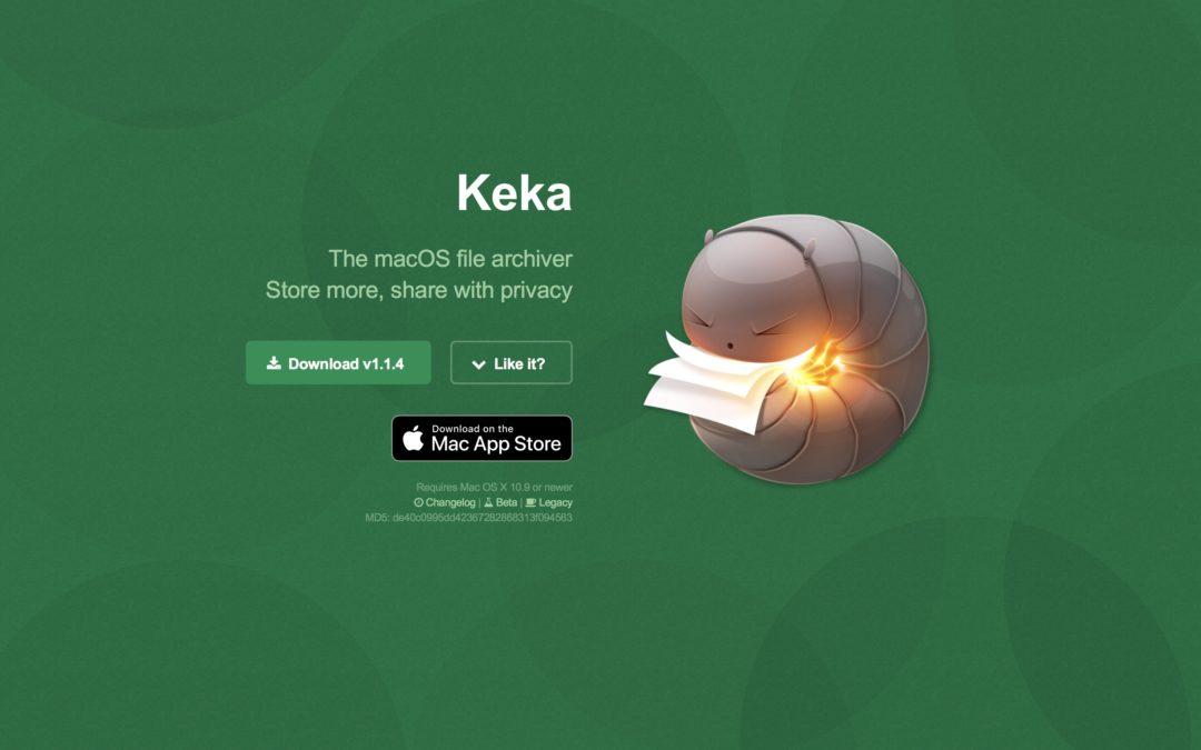 Gratistipset: Keka, för att packa upp dina filer