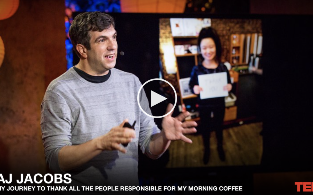 TED: Så tackade jag alla som fixat mitt morgonkaffe