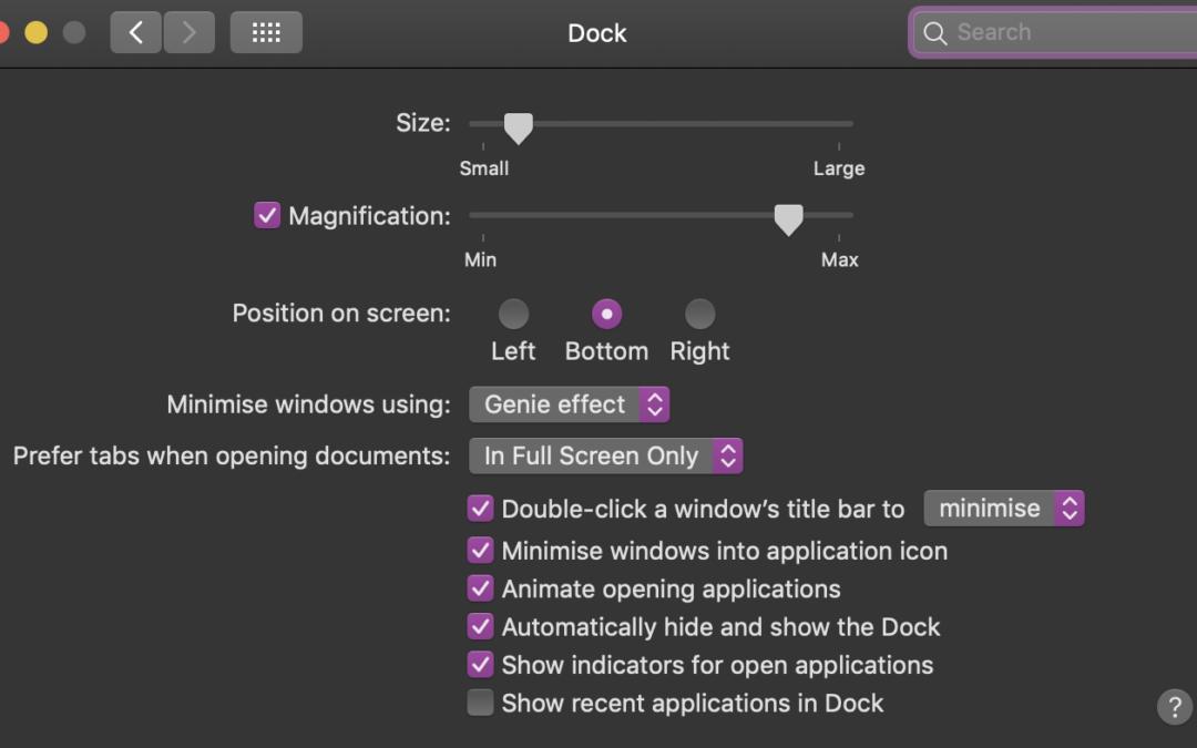 Så ställer du in Dockan i macOS